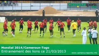 Photo de Mondial 2014/Cameroun-Togo : entrainement des lions du 21/03/03