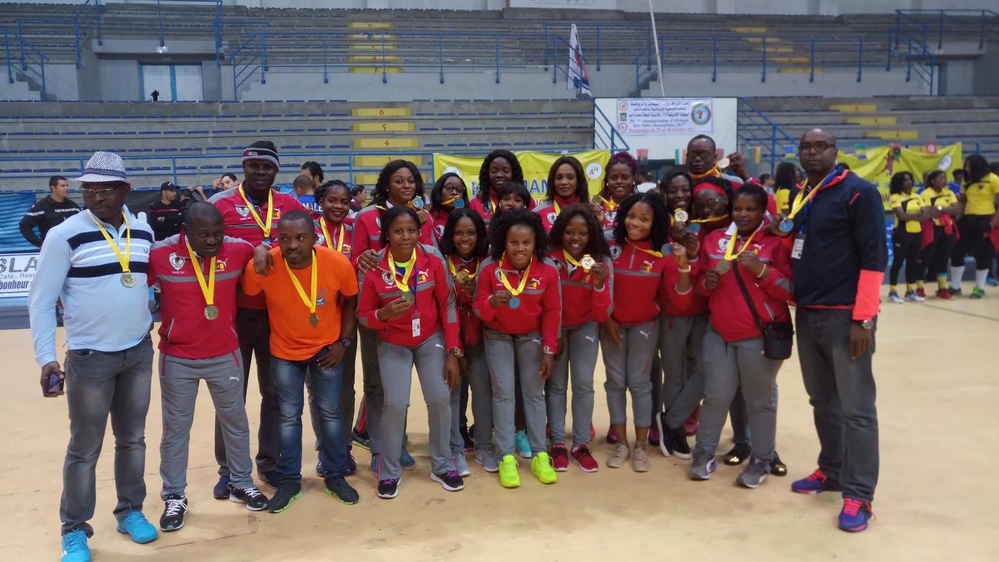 Coupe d afrique des clubs champions de handball dames fap du cameroun remporte la m daille de - Coupe d afrique handball ...