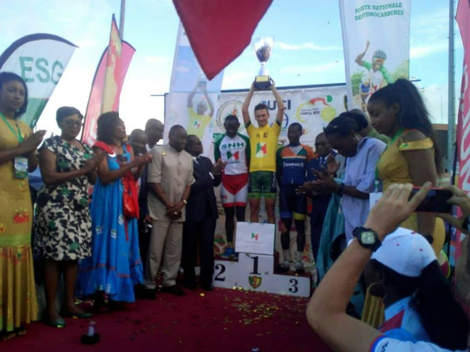 Photo de Grand Prix Cycliste international Chantal Biya 2018 : Le slovaque Bellan Juraj remporte la compétition