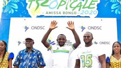 Photo de Tropicale Amissa Bongo: Clovis Kamzong Abessolo remporte la 4e étape et entre dans l'histoire