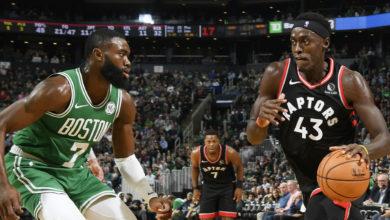 Photo de Guidés par le Camerounais Pascal Siakam, les Raptors égalisent dans leur série contre les Celtics !