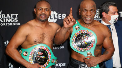 Photo de Un vrai combat mais pas de vainqueur entre Mike Tyson et Roy Jones Jr