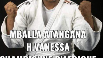 Photo de Judo: La Camerounaise Hortence Vanessa Mballa Atangana a remporté sa quatrième couronne continentale