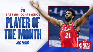 Photo de NBA : Joel Embiid élu joueur du mois