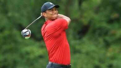 Photo de Le golfeur Tiger Woodsa été blessé dans un accident de la circulation