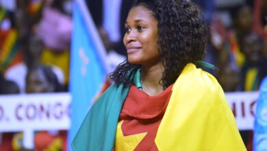 Photo de Volleyball : La double championne d'Afrique, Laetitia Moma-Bassoko Championne de France