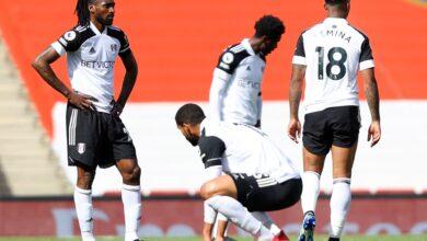 Photo de Fulham de Zambo Anguissa relégué en deuxième division anglaise