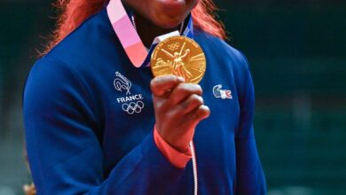 Photo de Jeux Olympiques de Tokyo  (Judo) : Clarisse Agbegnenou remporte la  médaille d'Or