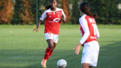 Photo de Le Stade de Reims tombe lourdement face à Lyon, Easther Mayi Kith inscrit un but contre son camp