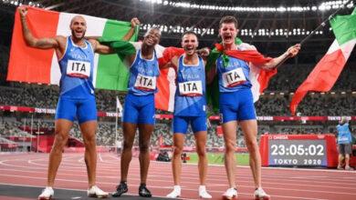 Photo de JO Tokyo (relais 4x100m) : L'Italie crée la surprise en remportant l'Or